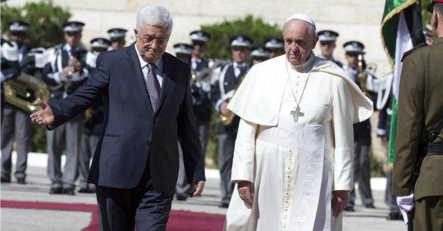 """Terra Santa, Papa Francesco: """"Il popolo palestinese ha diritto ad avere una patria"""""""