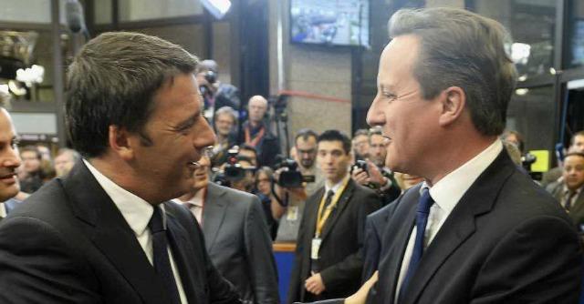 Renzi e Cameron