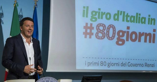 Renzi al Giro d'italia