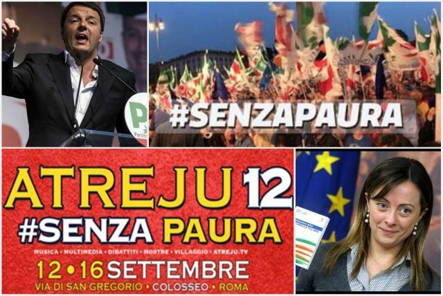 Twitter, gaffe di Renzi: lancia #Senzapaura ma quell'hashtag è della Meloni