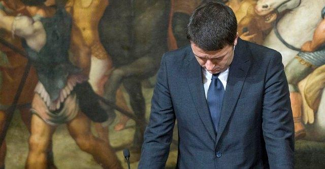 Matteo Renzi a testa bassa