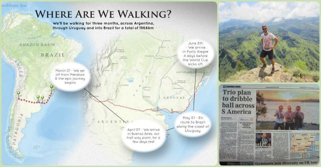 Mondiali on the road: in Brasile a piedi o in bicicletta