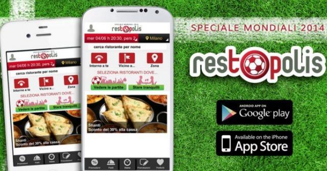 restOpolis Mondiali 2014, l'app per guardare la partita al ristorante (o starne alla larga)
