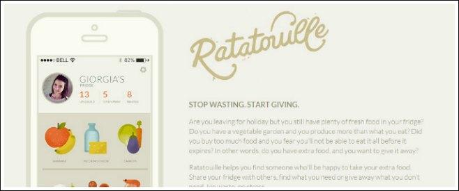 App, ecco Ratatouille: avanzi condivisi per combattere lo spreco di cibo