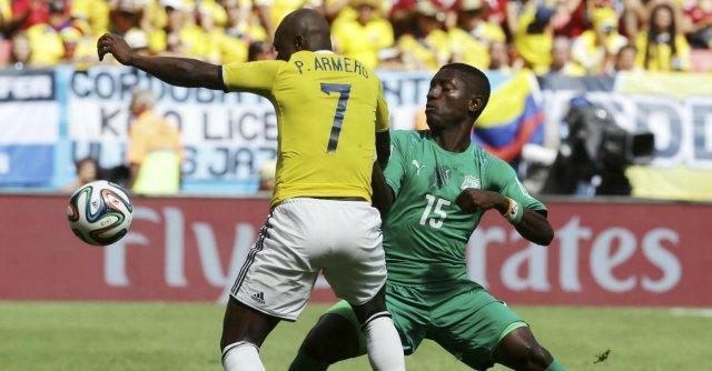 Mondiali 2014, Colombia – Costa d'Avorio: finisce 2 a 1