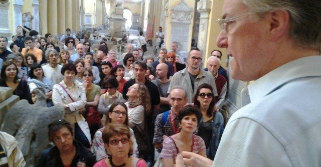 Privatizzazione musei Bologna, protesta in cimitero: 'Celebriamo funerali della cultura'