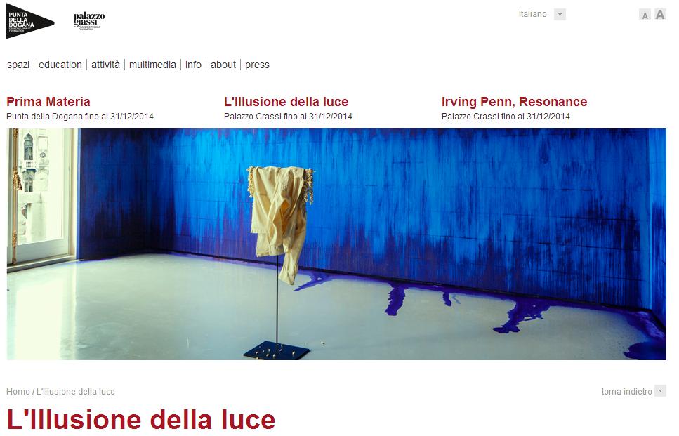 Mostre, a Venezia si espone l'illusione della luce