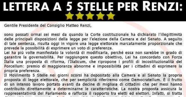 """Riforme, M5S scrive a Renzi: """"Facciamo sul serio"""". Di Maio: """"Usciamo dal limbo"""""""