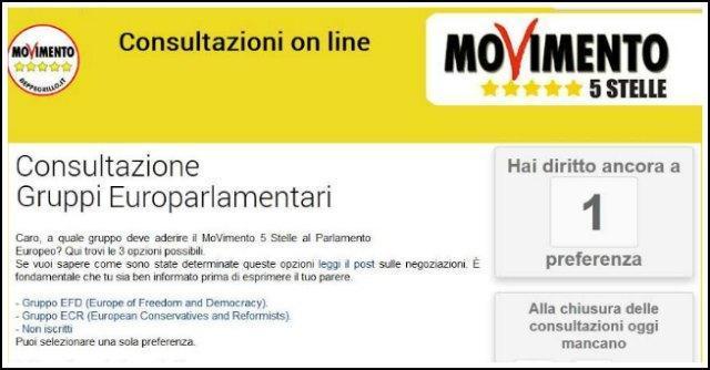 M5s, consultazioni online per alleanze in Europarlamento: Verdi esclusi