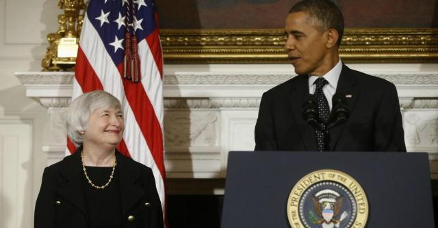Janet Yellen e Barack Obama