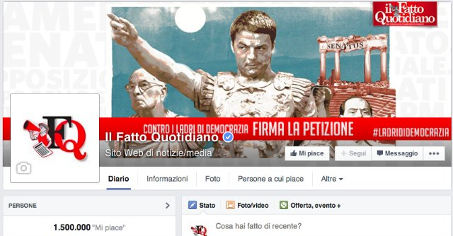 "Il Fatto Quotidiano ha 1,5 milioni di fan su Facebook: seconda ""potenza"" social d'Italia"