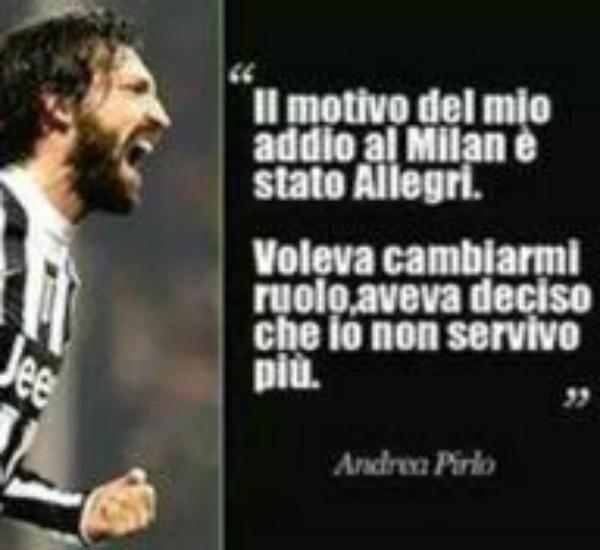 Il centrocampista andò via dal Milan a causa di Allegri