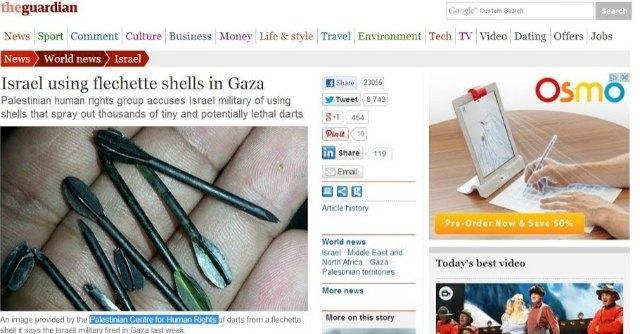 """Gaza, ong accusa: """"Nelle bombe di Israele freccette d'acciaio che uccidono i civili"""""""