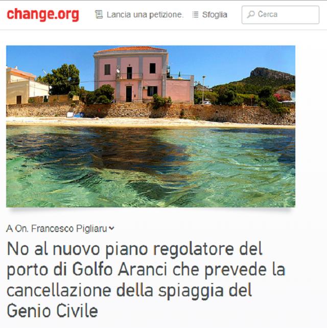 golfo aranci petizione