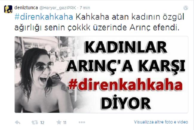 Turchia, #kahkaha: una risata vi seppellirà!