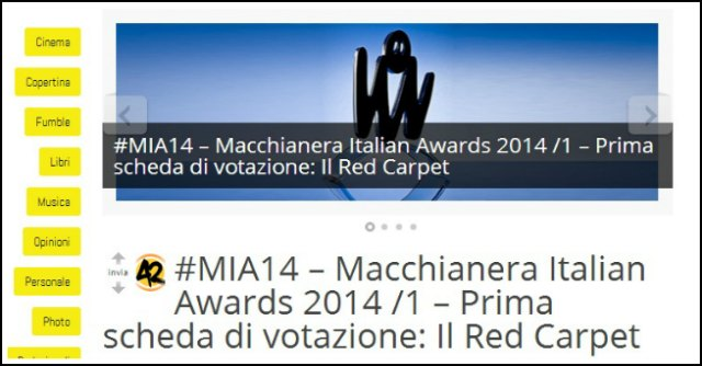 Macchianera Italian Awards 2014: il concorso che premia i migliori siti italiani