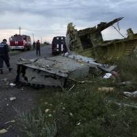 Il luogo dello schianto in Ucraina