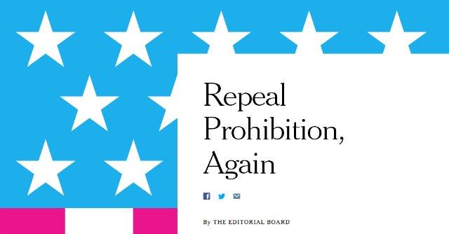 """Marijuana, il New York Times: """"Divieto come epoca buia del Proibizionismo"""""""