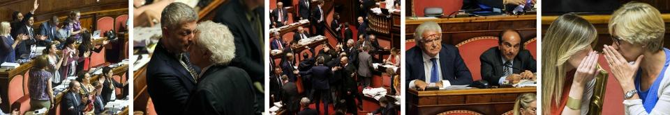 Riforme, il governo va ko col voto segreto Grasso a minoranze: calmi o arriva polizia