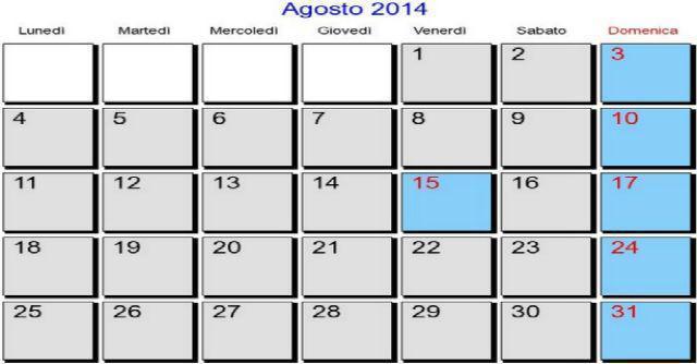 Scadenze fiscali di agosto 2014: tregua fino al 20. Poi mini valanga di appuntamenti