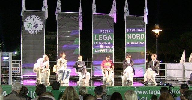 Meloni, Fitto, Salvini e De Girolamo a Festa Lega Nord: prove di centrodestra