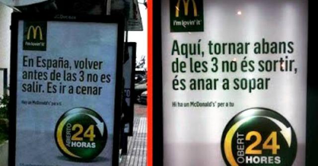McDonald's punta sull'indipendenza catalana e cancella la Spagna dai cartelloni