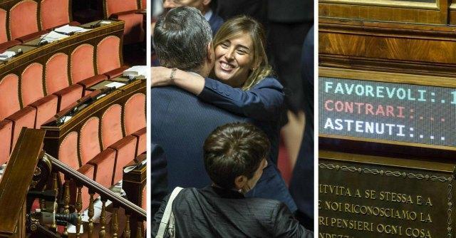 Riforma Senato, approvato il ddl Boschi. Sel, Lega, M5S e dissidenti Pd non votano