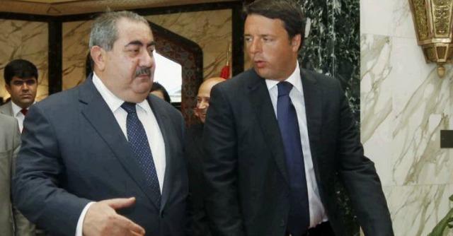 """Iraq, Renzi ai curdi: """"Vinceremo insieme la battaglia contro il terrorismo"""""""