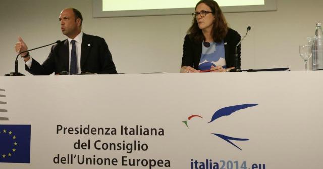 Angelino Alfano e Cecilia Malmstrom