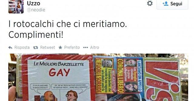 """""""Visto"""" in edicola con allegato di barzellette sui gay. Polemiche e petizione online"""