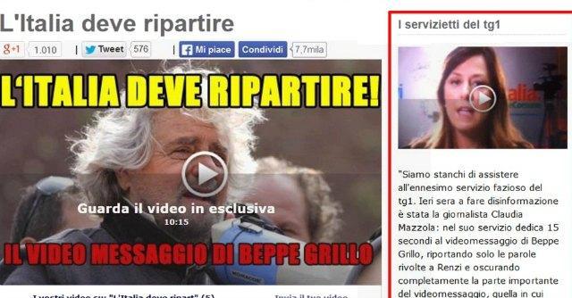 """Blog Grillo contro il Tg1: """"Stanchi dei servizietti faziosi contro M5S"""""""