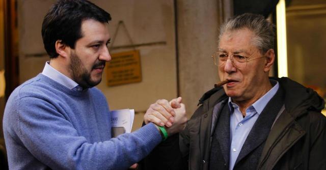 Umberto Bossi e Matteo Salvini