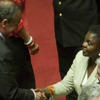 Roberto Calderoli e Cecile Kyenge