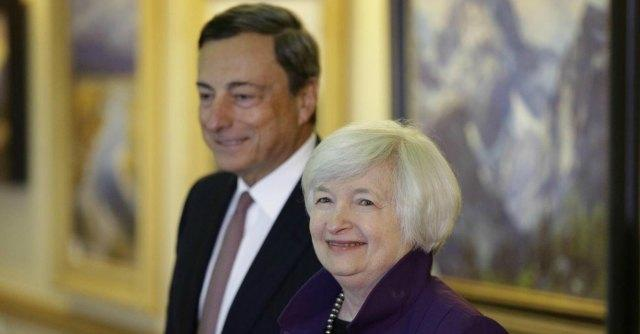 Draghi e Yellen, la Bce e la Fed non salvano Renzi e i governi
