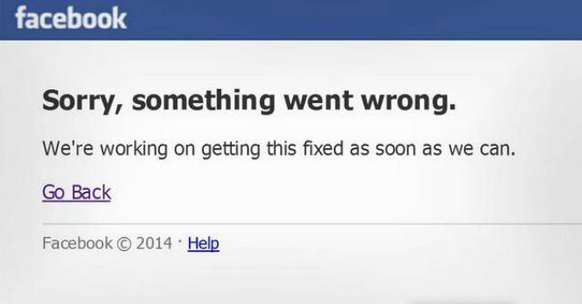 Facebook down, il social newtork ha smesso di funzionare. Cause ignote