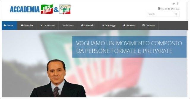 """""""Accademia Forza Italia"""": il corso di formazione politica di Berlusconi"""