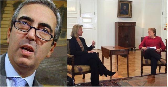 """Twitter: Gasparri insulta Mogherini """"Una colf europea in Cile"""""""
