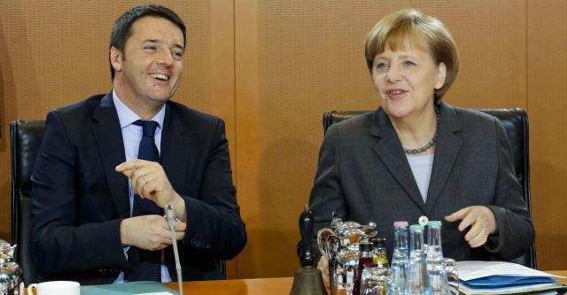 """Fiscal compact, Renzi vs Merkel: """"Nessuno tratti altri Paesi come studenti"""""""
