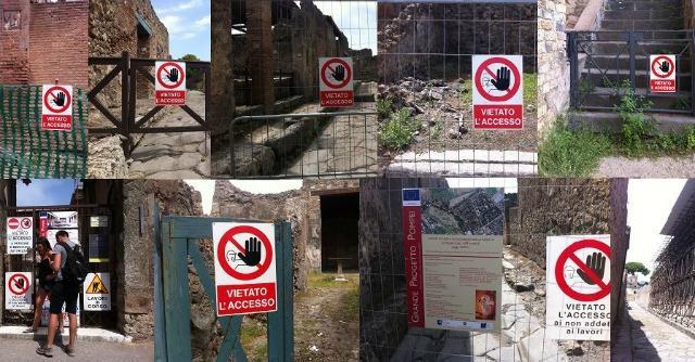 Pompei, un cantiere a cielo aperto dove si respira aria di presunzione