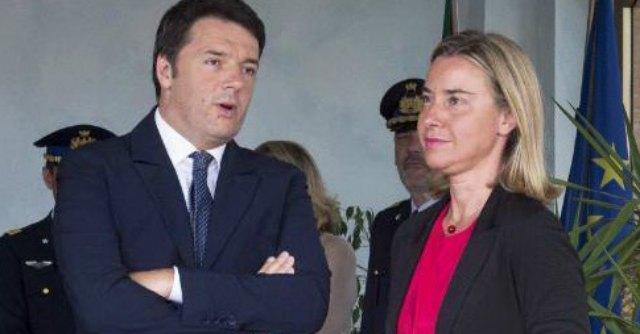 "Ue, lettera di Matteo Renzi a Juncker: ""Mogherini candidata Pesc per l'Italia"""
