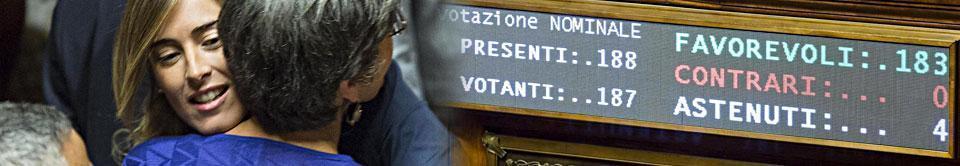 Riforme, via libera al Senato dei nominati Dissidenti Pd e Fi non votano, M5S fuori