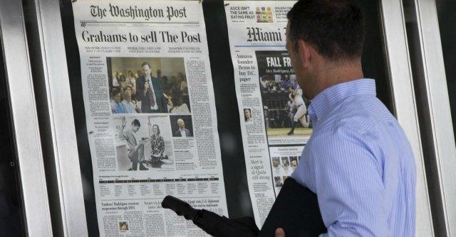 Washington Post, con la gestione Bezos aumenta del 43% il pubblico online