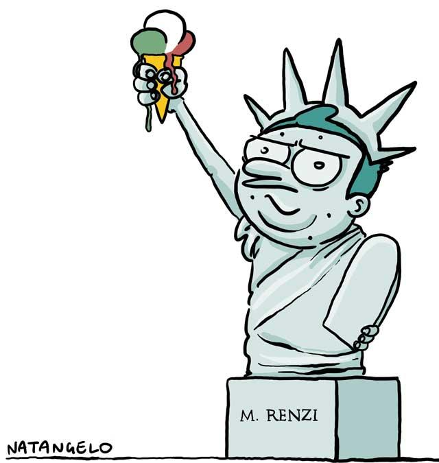 Renzi negli Usa: greetings from New York
