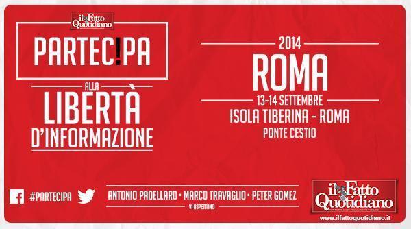 Il Fatto Quotidiano a Roma, partecipa anche tu alla libertà d'informazione