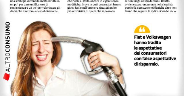 Consumi 'fasulli', Altroconsumo avvia una class action contro Fiat e Volkswagen