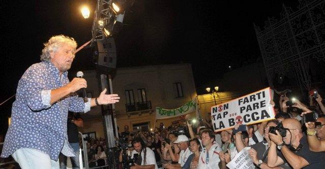 Bari, Vendola annuncia querela a Grillo dopo il comizio contro il gasdotto Tap