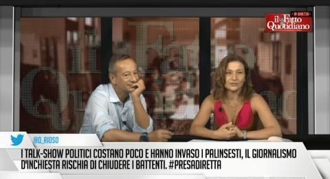 """FattoTv, Iacona: """"Troppi tagli in Rai, Presadiretta rischia di chiudere"""""""