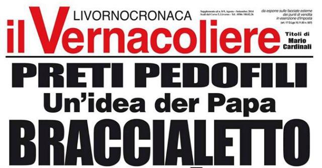 Satira su preti pedofili, il parroco di Livorno contro il titolo del Vernacoliere