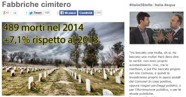 """Grillo: """"Contro disoccupazione Renzi elimina i lavoratori, altro che art.18"""""""