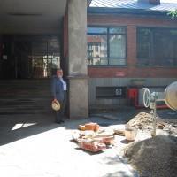Cantieri fermi in attesa dello sblocco dei fondi previsto per il 2015.